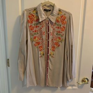 Embroidered Blouse, Small